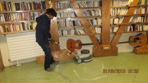 Cleaning. Credits: A. Barbero