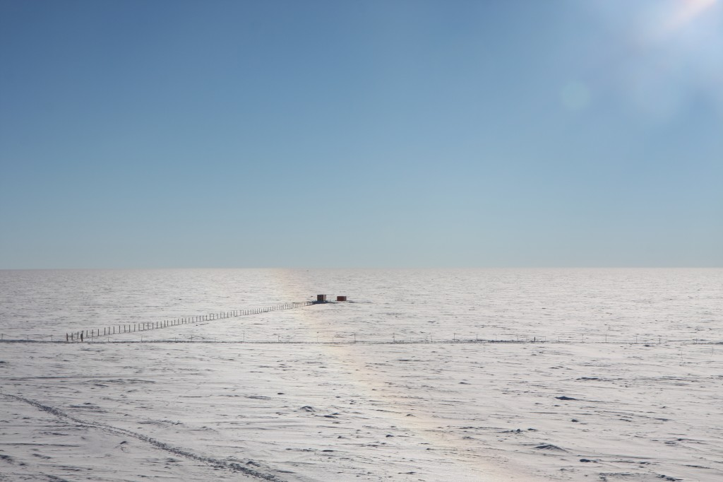 Concordia Station at Dome C appears tiny in the Antarctic desolation. Credits: ESA/IPEV/PNRA-A. Salam