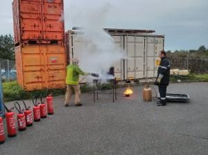 Firefighting training. Credits: IPEV/PNRA/ESA-A. Golemis