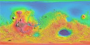 Mars map Mawrth Vallis is L2 and II Thyle I is GH1. Credits: Thomas Wilson & the Mars-X Team (ISU)