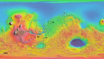 Mars map Mawrth Vallis is L2 and II Thyle I is GH1. Credits: Thomas Wilson & the Mars-X Team (ISU)