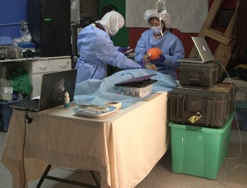 The operating theatre. Credits: K. Staat