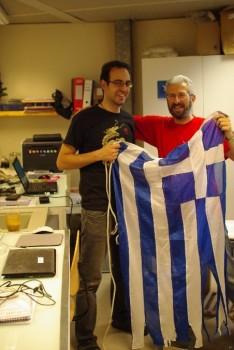 Adrianos and Evangelos. Credits: ESA/IPEV/PNRA-A. Golemis
