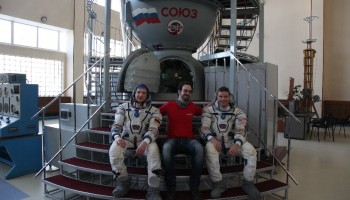 Coincidental meeting with Alex and NASA's Reid Wiseman in Star City about 2 years ago. Credits: A. Golemis