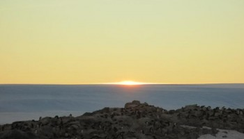 Antarctic sunset. Credits: ESA/IPEV/ENEA