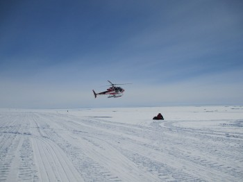 First helicopter ride. Credits: ESA/IPEV/PNRA-A. Golemis