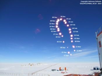 Antarctica Analemma. Credits: ESA/IPEV/PNRA-A. Golemis