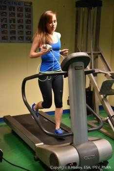 Gym running. Credits: ESA/IPEV/PNRA-B. Healey
