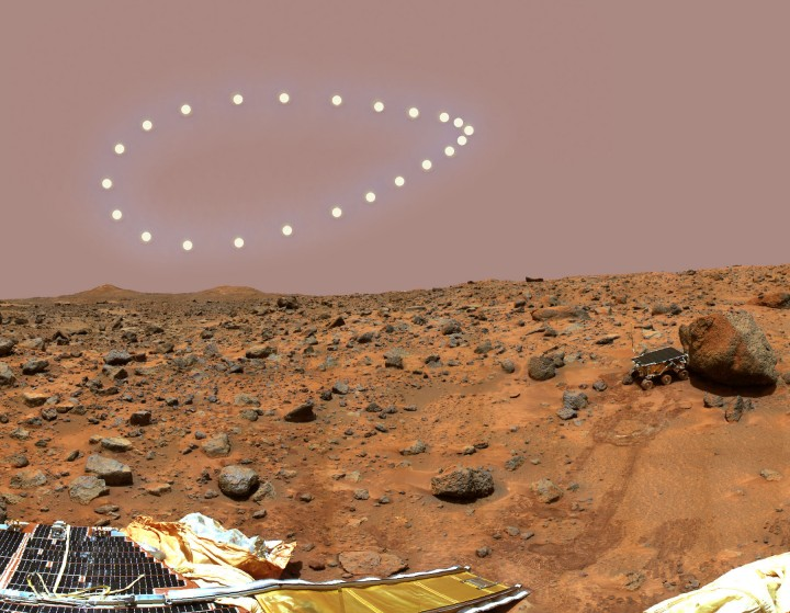 Analemma over Mars. Credits: Dennis Mammana (Skyscapes)
