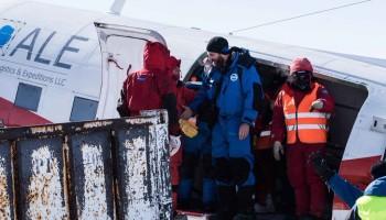 Floris van den Berg arrives at Concordia. Credits: ESA/IPEV/PNRA-B. Healey