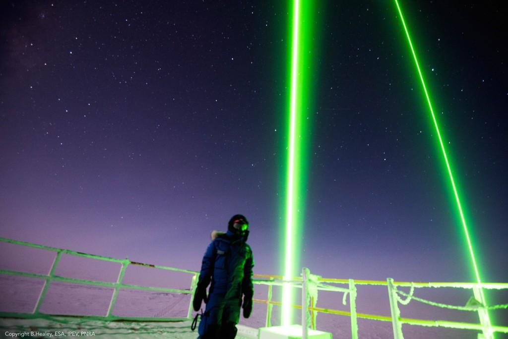 Lidar research in Antarctica. Credits: ESA/IPEV/PNRA-B. Healey