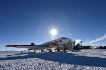 Aeroplane at Concordia. Credits: ESA/IPEV/PNRA