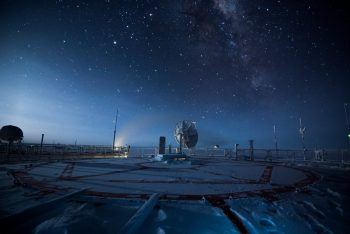 "A view from the top of the ""quiet"" tower of Concordia during winter. Credits: ESA/IPEV/PNRA–B. Healey"