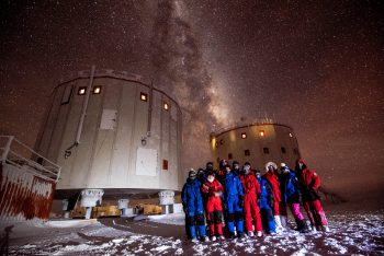 Our overwinter crew was composed of thirteen people. Credits: ESA/IPEV/PNRA–B. Healey