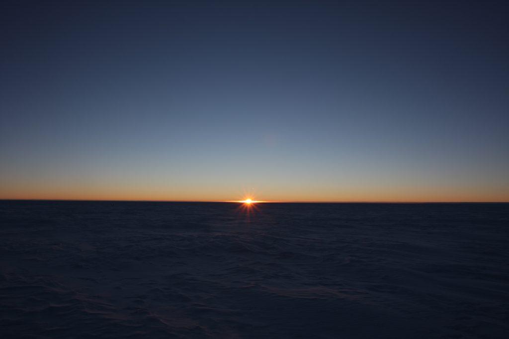 Sunrise after the long polar night.Credits: ESA/IPEV/PNRA–B. Healey