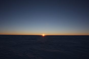 Sunrise after the long polar night.Credits: ESA/IPEV/PNRA–B. Healey
