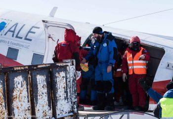 Arrival of ESA medical doctor Floris van den Berg at Concordia. Credits: ESA/IPEV/PNRA–B. Healey