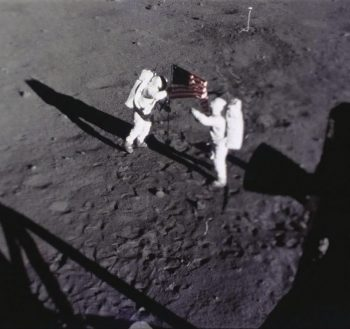 Neil Armstrong and Buzz Aldrin on the Moon. Credits: NASA