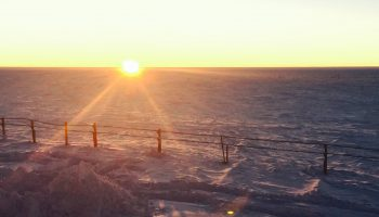 Last sunset at Concordia. Credits: ESA/IPEV/PNRA–F. van den Berg
