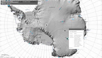 Elevation map of Antarctica. Credits: ESRI