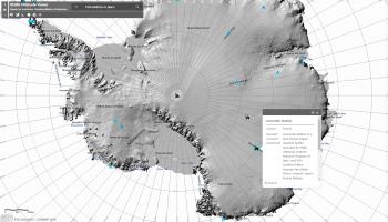 Elevation map of Antarctica. Credits: ESRI