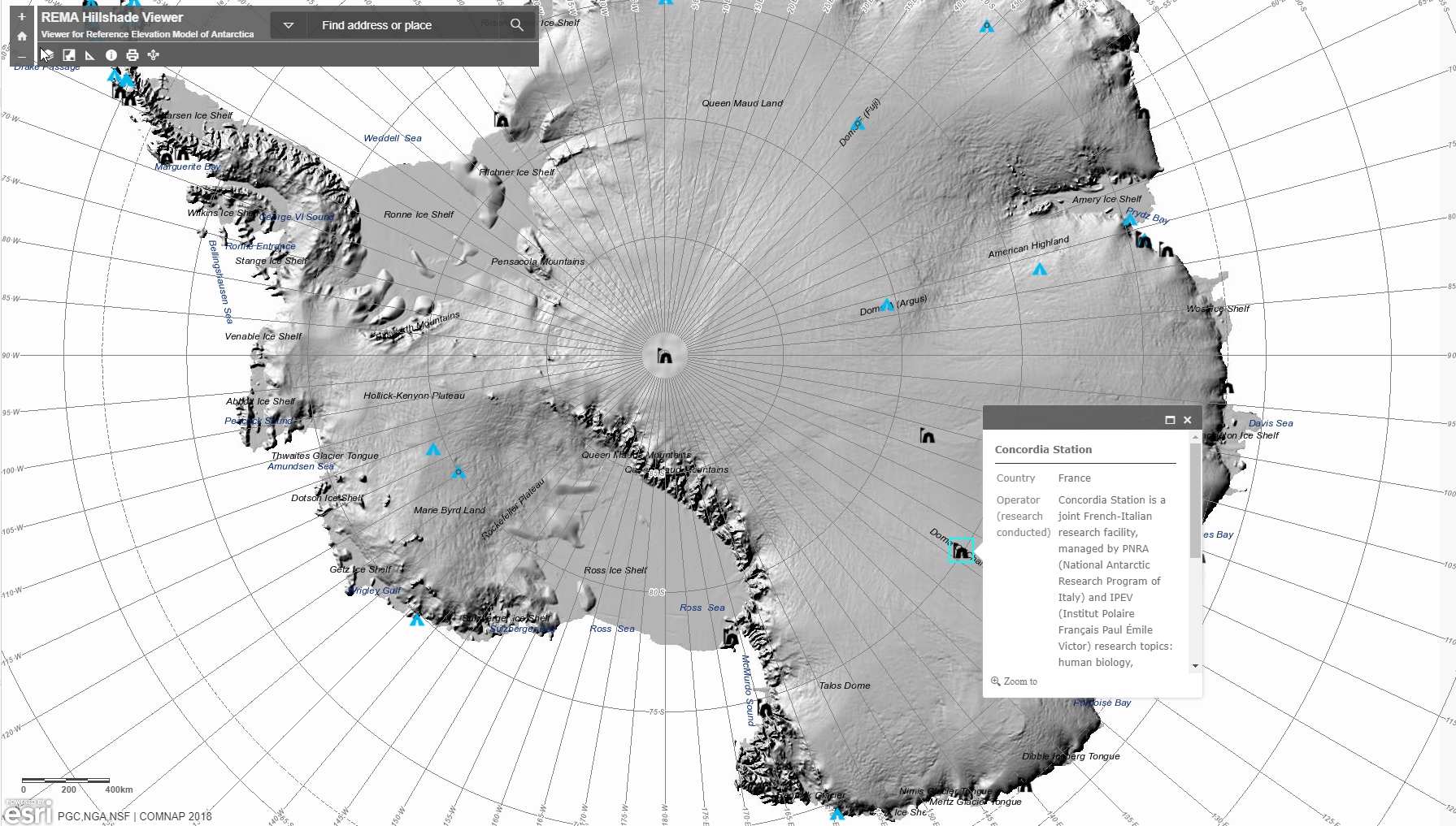 Elevation map of Antarctica – Chronicles from Concordia