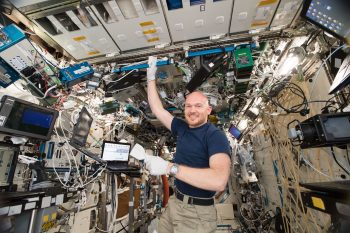 ESA astronaut Alexander Gerst on Space Station. Credits: ESA/NASA