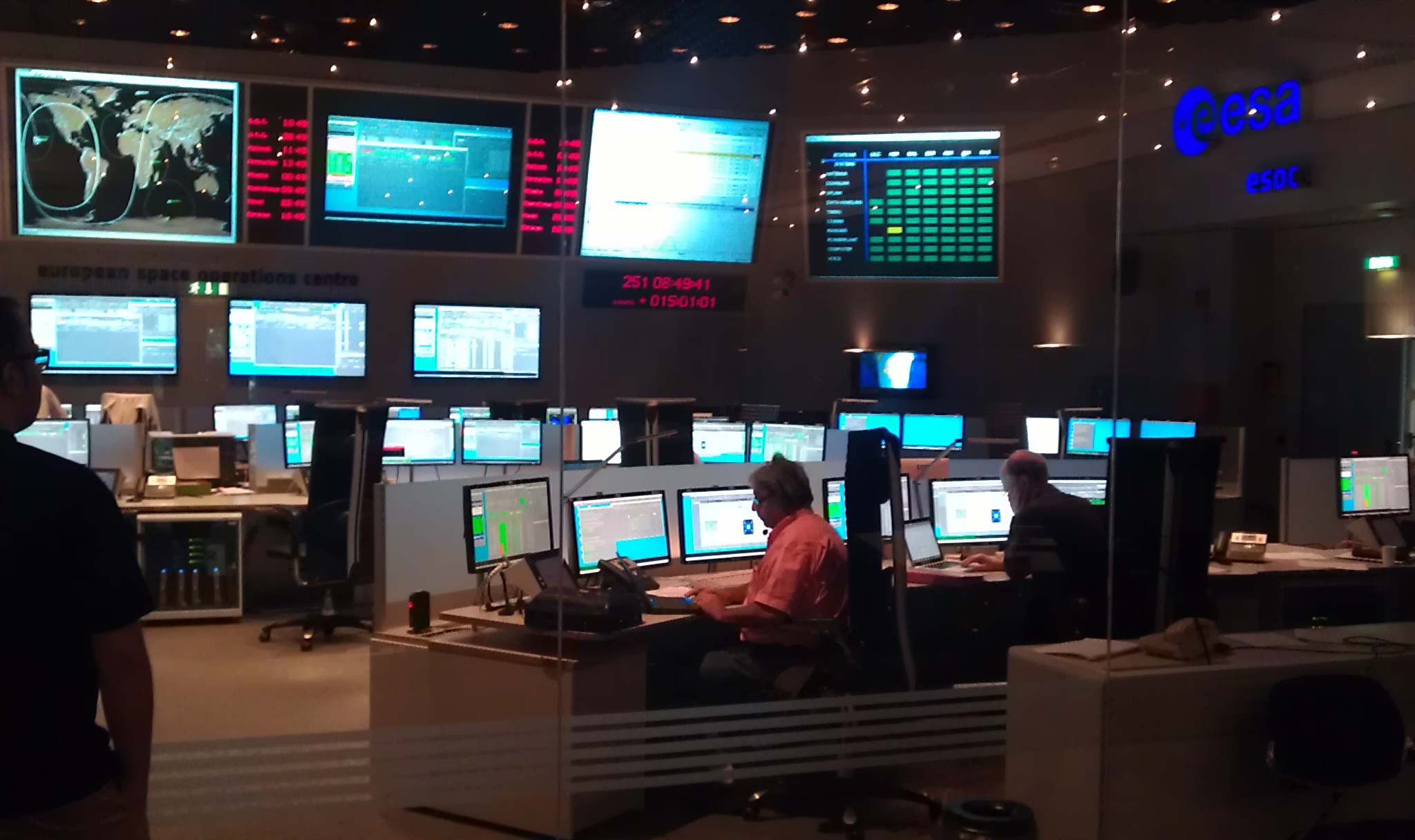 Mission control team in simulation training this AM | EO ...