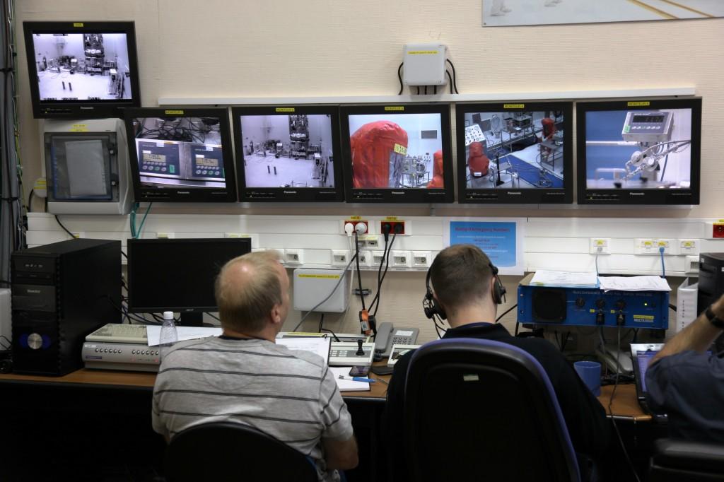 Monitoring hazardous fuelling operations Credit: ESA