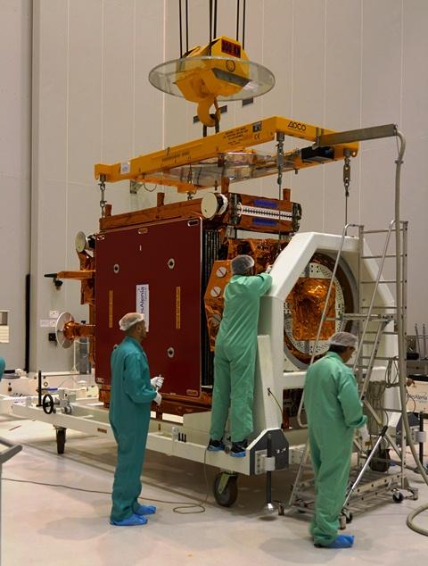 Getting Sentinel-1A ready for fuelling. (ESA –B. v/d Elst)