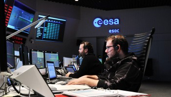 At ESOC, 13 March 2014. Credit: ESA
