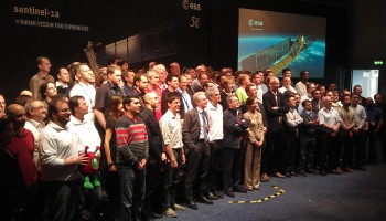 Sentinel-1A launch team at ESOC on L-1 day. Credit: ESA/J. Mai