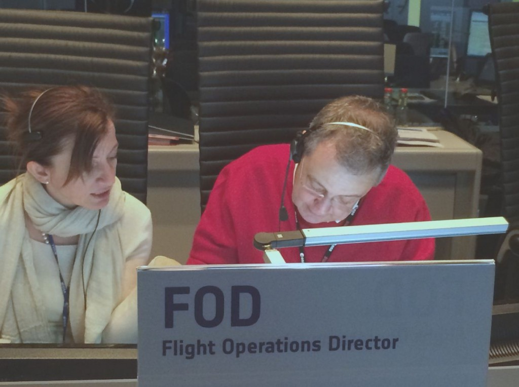 Luisella and Pier-Paolo on shift. (ESA)