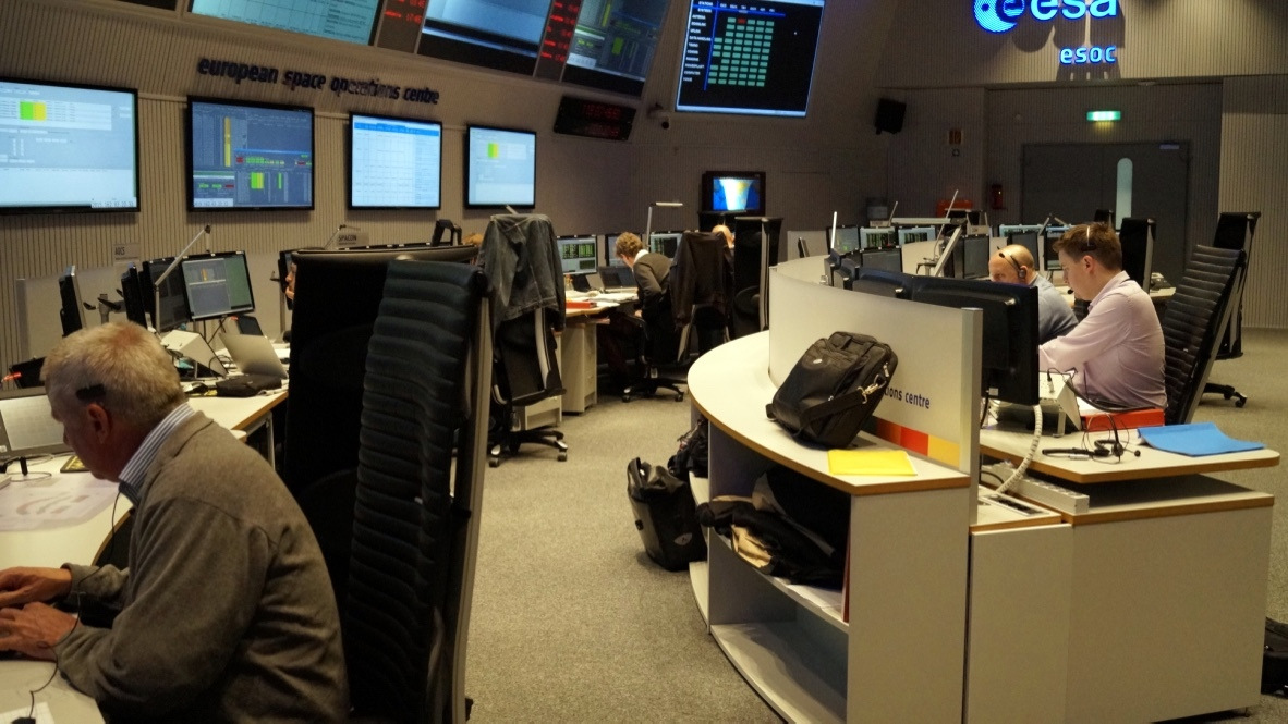 Sentinel-2 Mission Control Team simulation training 28 April 2015 ESA/L. Guilpain CC BY-SA IGO 3.0