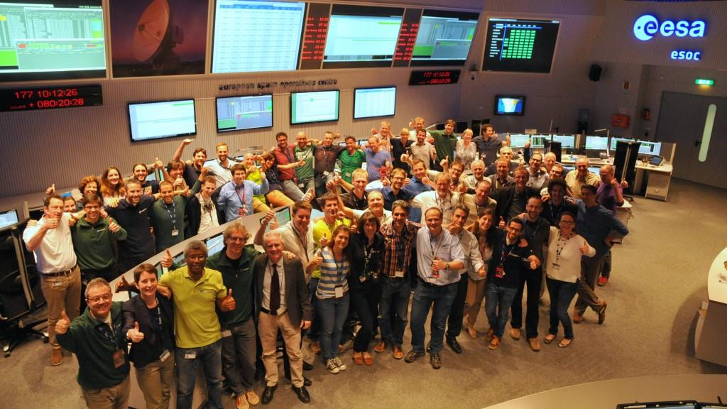 Celebrating the end of the beginning (Credits: ESA/D. Scuka - CC BY-SA IGO 3.0)