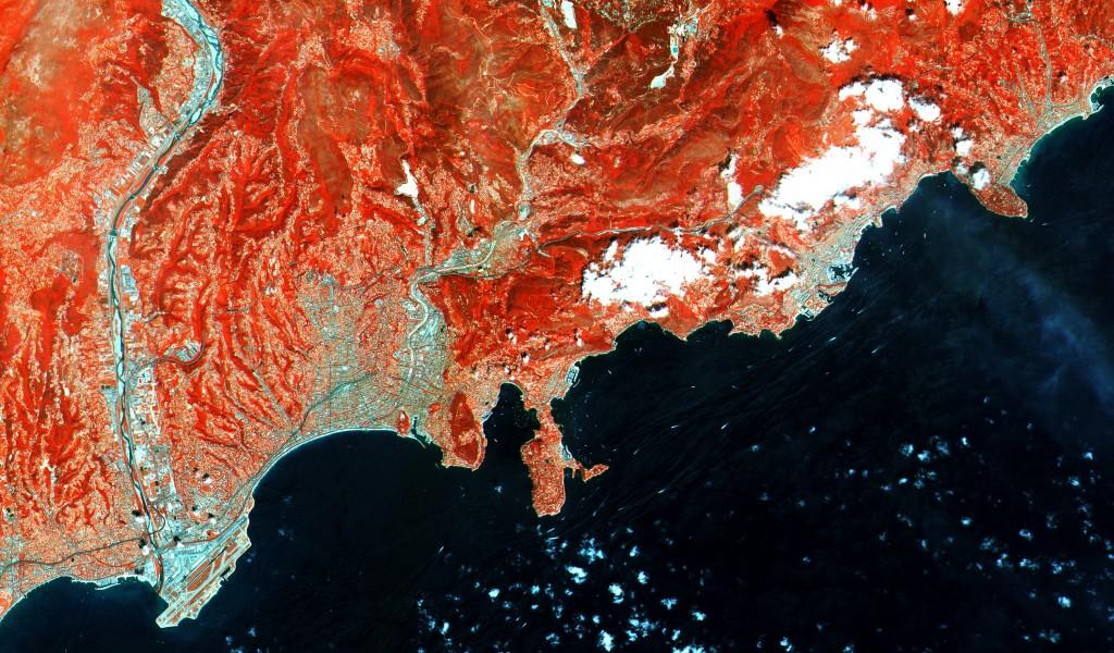 French Riviera (Credits: Copernicus data (2015)/ESA)