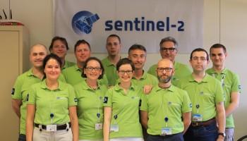 ESA Sentinel-2 team in green. (ESA)