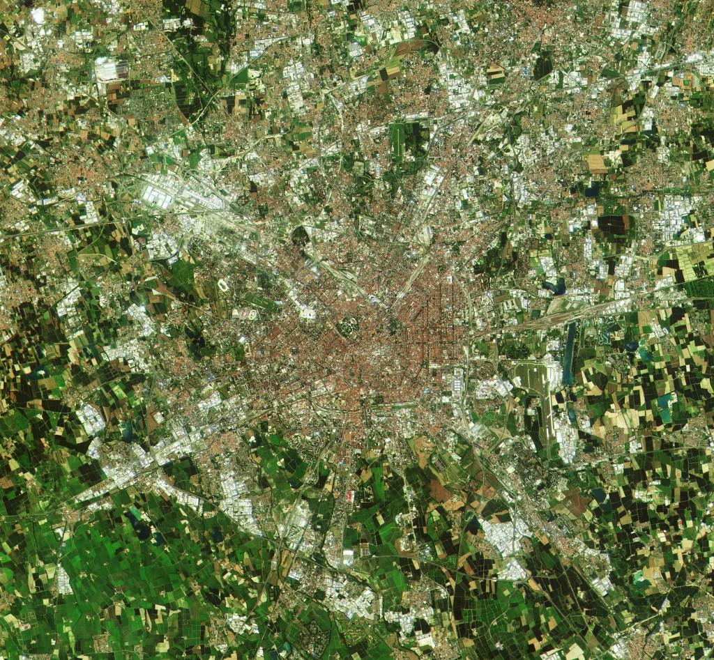 A close-up of Milan, Italy (Credits: Copernicus data (2015)/ESA)