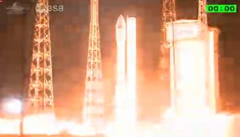 Sentinel-2 lifts off. (ESA)