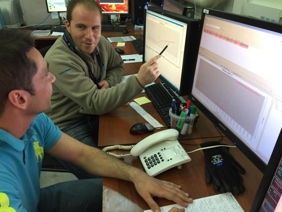 Checking satellite telemetry (ESA)
