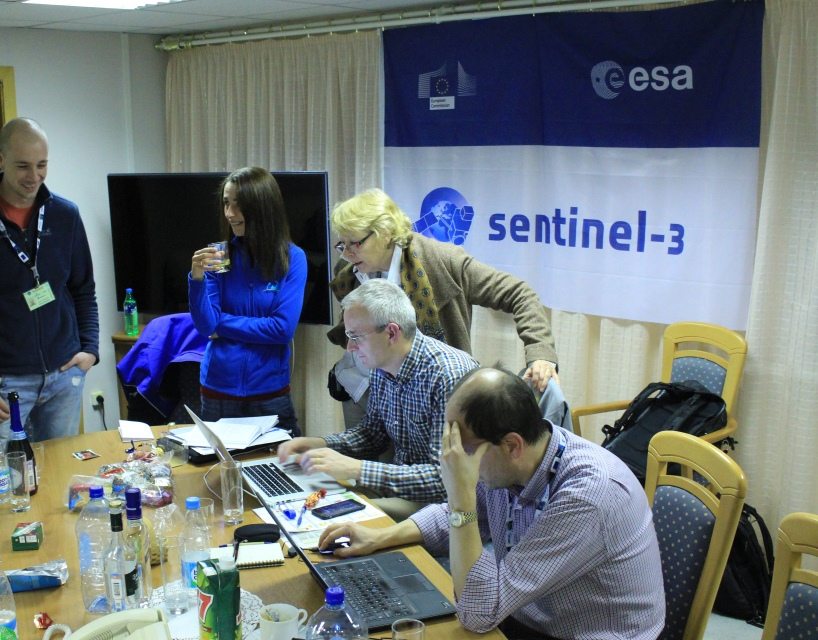 Looking over the schedule. (ESA)
