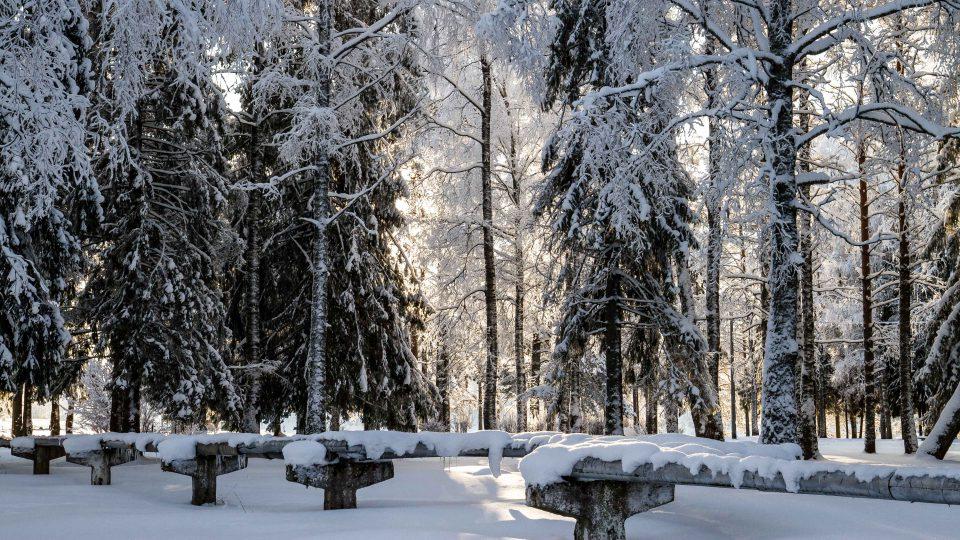 Snowy surroundings. (ESA)
