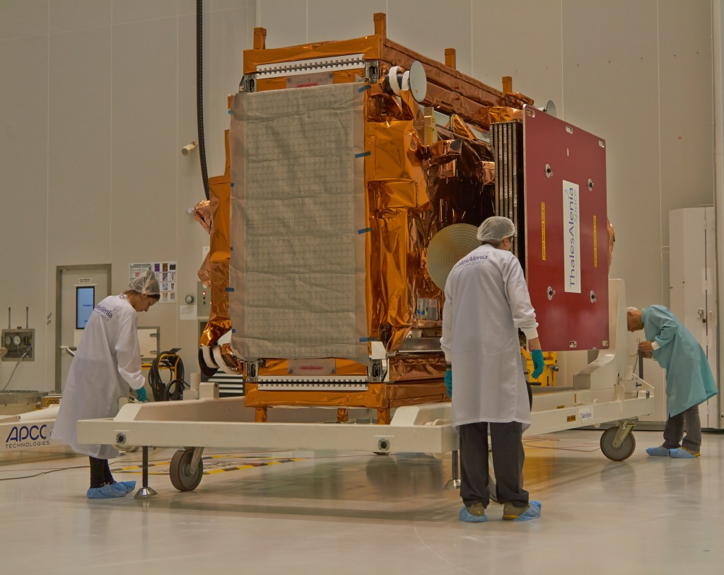 Sentinel-1B will spend the next weeks being prepared for launch. (ESA)