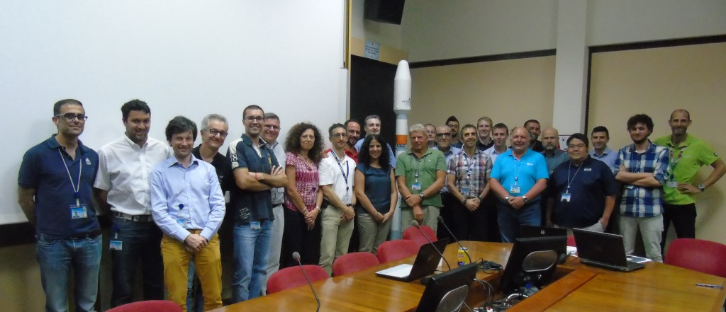 Sentinel-1B, Microscope, FyS, Arianespace and CSG teams at BT-POC