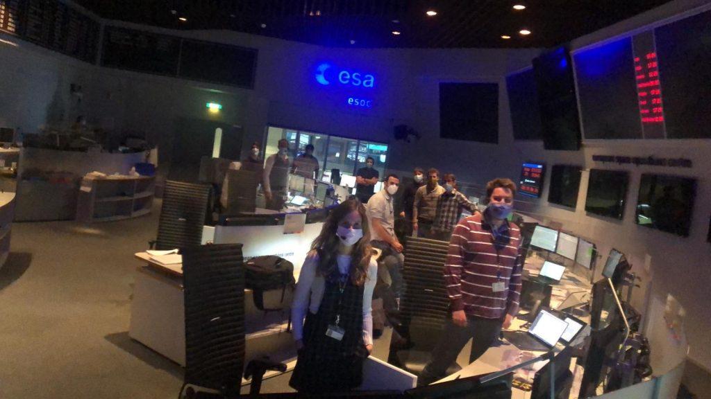 SEOSAT-Ingenio internal countdown rehearsal at ESA ESOC. (ESA)