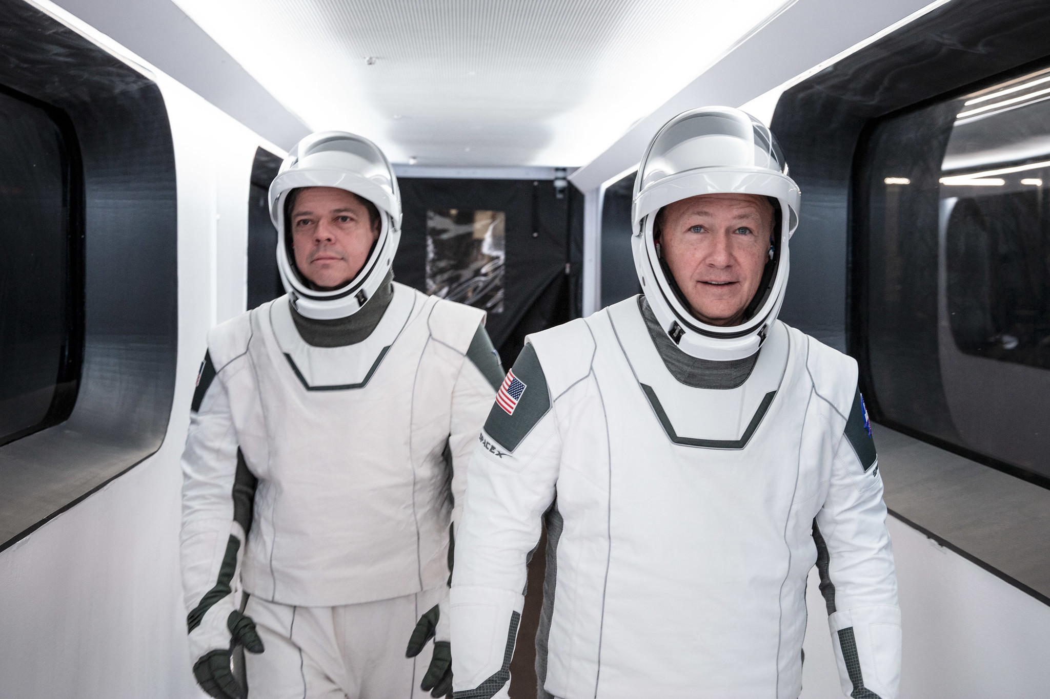 Bob and Doug in SpaceX suits