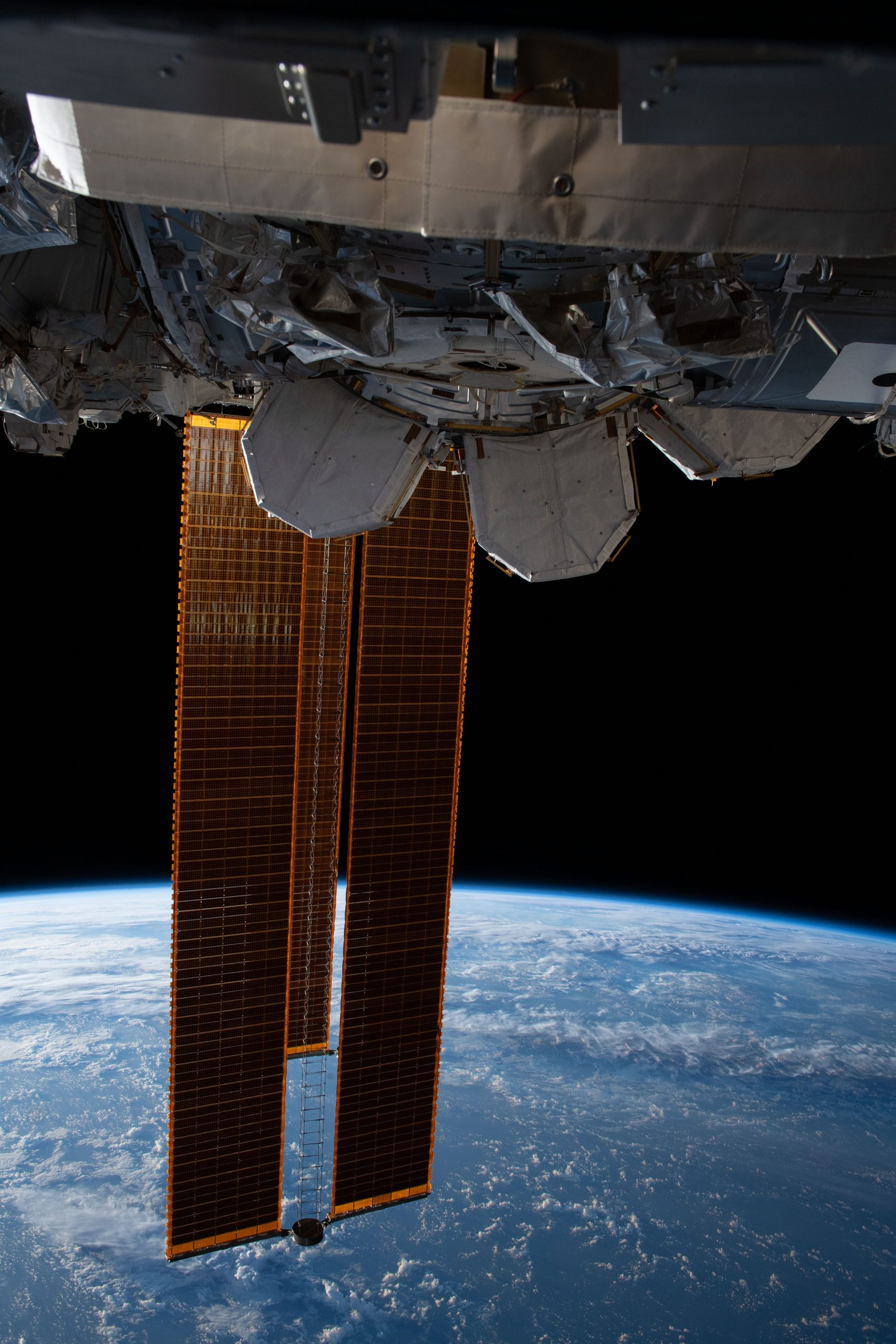 International Space Station with solar arrays