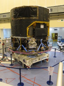 Gaia Flight Model spacecraft undergoing final electrical tests
