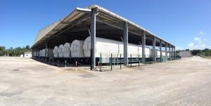 View of the Soyuz depot