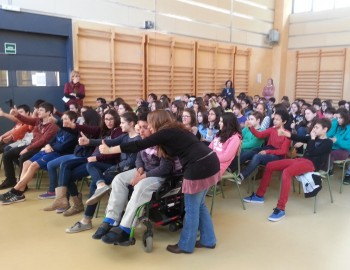 Thumbs up at 'Gaia Live in School' event